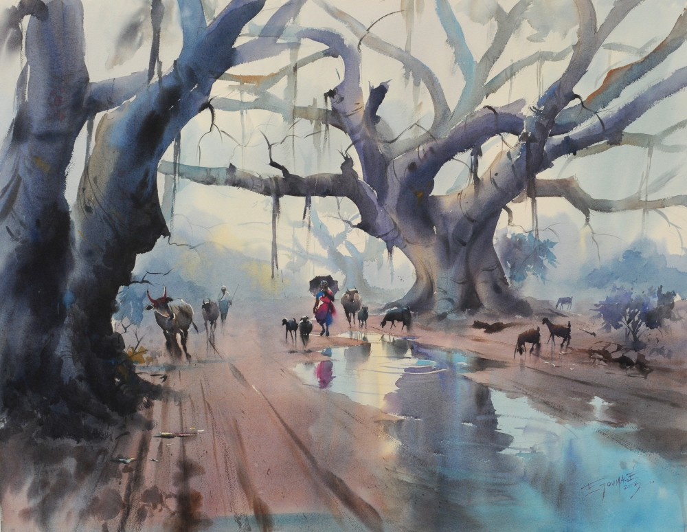 Banyan Tree After Rain - Ejoumale Djeramin